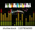 music studio background with... | Shutterstock .eps vector #1107836000
