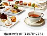 afternoon tea is ready | Shutterstock . vector #1107842873