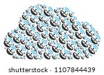 cloud collage constructed from... | Shutterstock .eps vector #1107844439