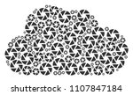 cloud mosaic made with shutter... | Shutterstock .eps vector #1107847184
