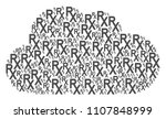 cloud collage formed of rx... | Shutterstock .eps vector #1107848999