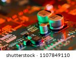 electronic circuit board close... | Shutterstock . vector #1107849110