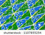 flags  of solomon islands ... | Shutterstock . vector #1107855254