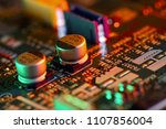 electronic circuit board close... | Shutterstock . vector #1107856004