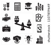 set of 13 simple editable icons ... | Shutterstock .eps vector #1107859649