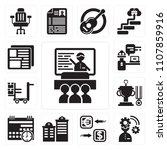 set of 13 simple editable icons ... | Shutterstock .eps vector #1107859916