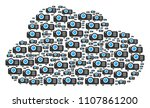 cloud figure composed from...   Shutterstock .eps vector #1107861200