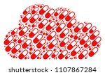 cloud shape composed with... | Shutterstock .eps vector #1107867284