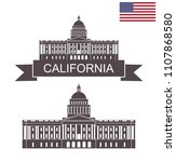 state of california. building... | Shutterstock .eps vector #1107868580