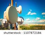 telecommunication equipment... | Shutterstock . vector #1107872186
