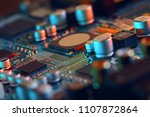 electronic circuit board close... | Shutterstock . vector #1107872864
