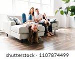 family of four having fun on... | Shutterstock . vector #1107874499