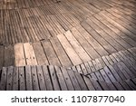 close up to abstract wooden... | Shutterstock . vector #1107877040