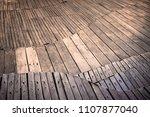 abstract wooden floor on...   Shutterstock . vector #1107877040
