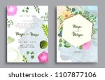 wedding invitation  invitation... | Shutterstock .eps vector #1107877106