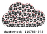 cloud mosaic made of fortress...   Shutterstock .eps vector #1107884843