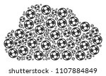 cloud mosaic made with football ... | Shutterstock .eps vector #1107884849