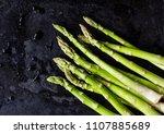 Asparagus On Dark Texture...