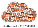 cloud figure formed of first... | Shutterstock .eps vector #1107885848