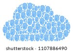 cloud composition made with...   Shutterstock .eps vector #1107886490