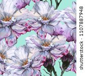 background of roses. seamless... | Shutterstock . vector #1107887948