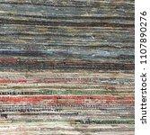 cotton rag rug background... | Shutterstock . vector #1107890276