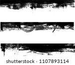 grunge edges vector set .... | Shutterstock .eps vector #1107893114