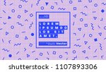 minimal retro futurism style... | Shutterstock .eps vector #1107893306