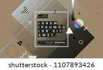 minimal retro futurism style... | Shutterstock .eps vector #1107893426