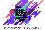 geometric background design.... | Shutterstock .eps vector #1107893573