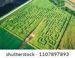 Aerial Of Corn Maze  Manitoba ...