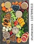 high fibre health food concept... | Shutterstock . vector #1107898313