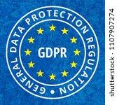 eu gdpr label illustration | Shutterstock .eps vector #1107907274