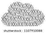 cloud composition constructed... | Shutterstock .eps vector #1107910088