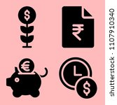 business icons set of... | Shutterstock .eps vector #1107910340