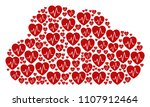 cloud mosaic constructed with... | Shutterstock .eps vector #1107912464
