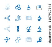 scientific icon. collection of... | Shutterstock .eps vector #1107917843
