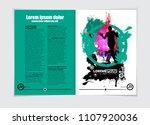 brochure layout  vector easy to ... | Shutterstock .eps vector #1107920036
