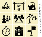 camping icons   Shutterstock .eps vector #110792018