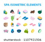 vector isometric icons spa... | Shutterstock .eps vector #1107921506
