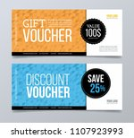 gift voucher template design... | Shutterstock .eps vector #1107923993
