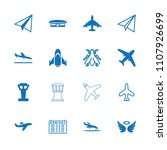 flight icon. collection of 16... | Shutterstock .eps vector #1107926699