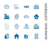 residential icon. collection of ... | Shutterstock .eps vector #1107928154