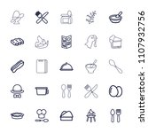 cooking icon. collection of 25... | Shutterstock .eps vector #1107932756
