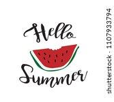 hello summer illustration... | Shutterstock .eps vector #1107933794