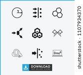 formula icon. collection of 9... | Shutterstock .eps vector #1107934370