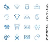 newborn icon. collection of 16... | Shutterstock .eps vector #1107935108