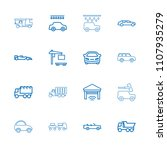 automobile icon. collection of... | Shutterstock .eps vector #1107935279