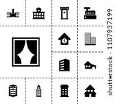 residential icon. collection of ... | Shutterstock .eps vector #1107937199