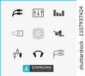 volume icon. collection of 9... | Shutterstock .eps vector #1107937424